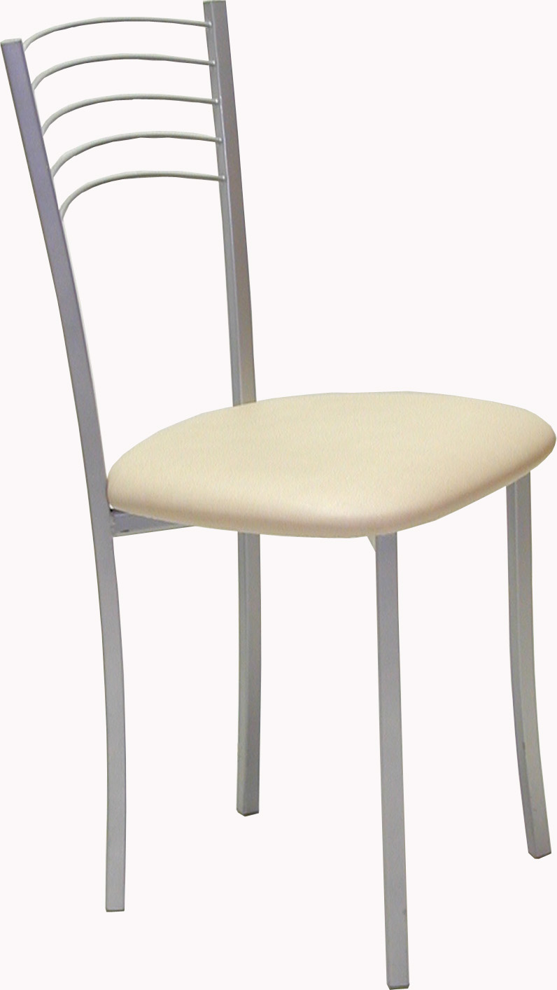 Silla cocina metalica tapizada carol 4 patas for Sillas para cocina precios