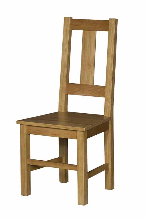 Silla de madera en roble franc s asiento madera 4 patas for Sillas para oficina de madera