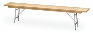 Banco plegable de madera de pino 150 x 30