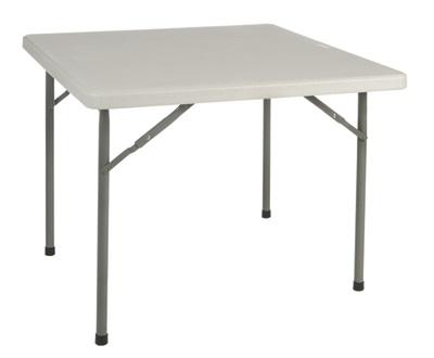 Mesa plegable polietileno 88 4 x 88 4 yago for Pedestales metalicos para mesas