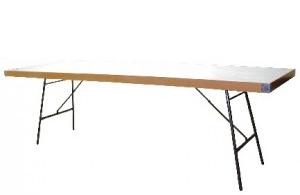 Mesa plegable de melamina, con patas abatilbles, para banquetes