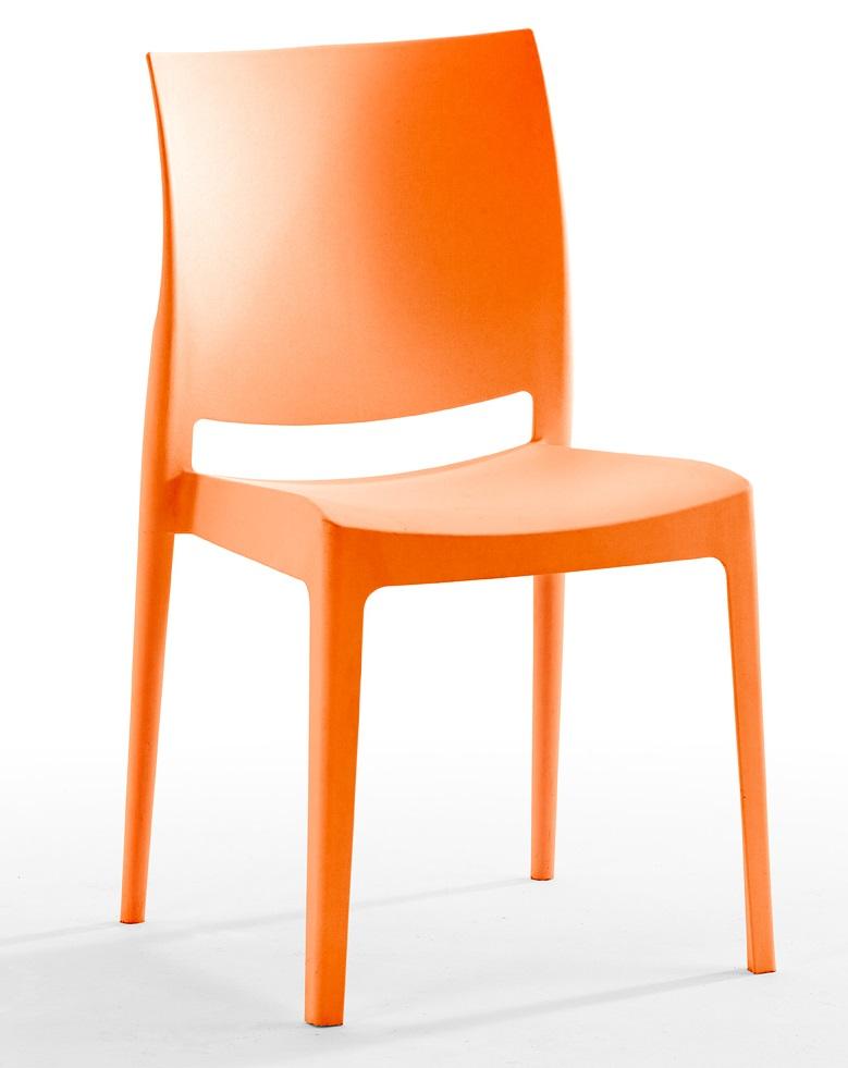 Silla apilable de pl stico noa para hosteler a - Mesas y sillas de plastico ...