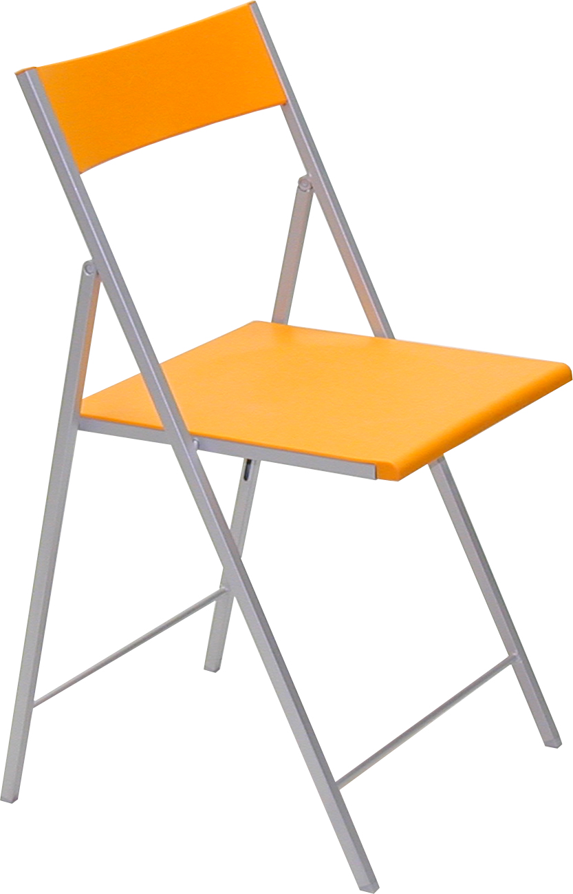 Silla plegable met lica bricol 4 patas for Sillas plegables diseno