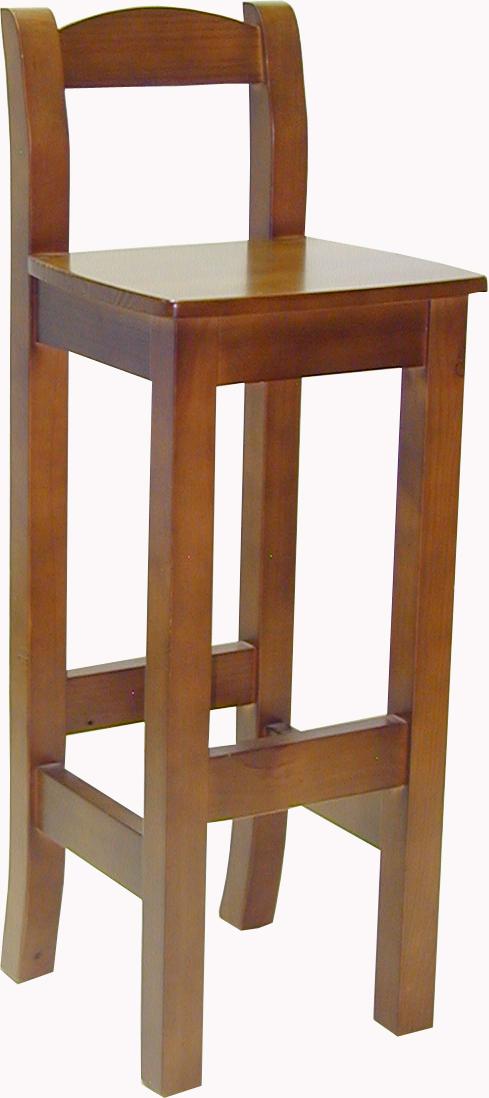 taburete de barra de pino 4 patas