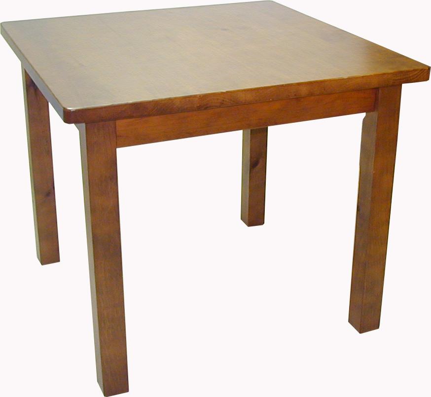 mesa de madera de pino 4 patas