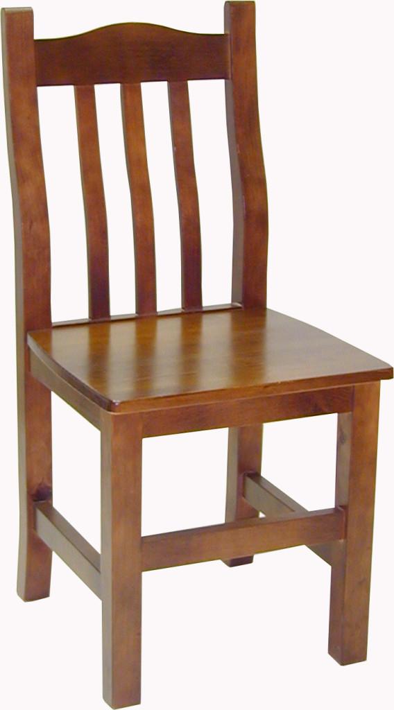 Silla madera de pino 4 patas for Imagenes de sillas para comedor