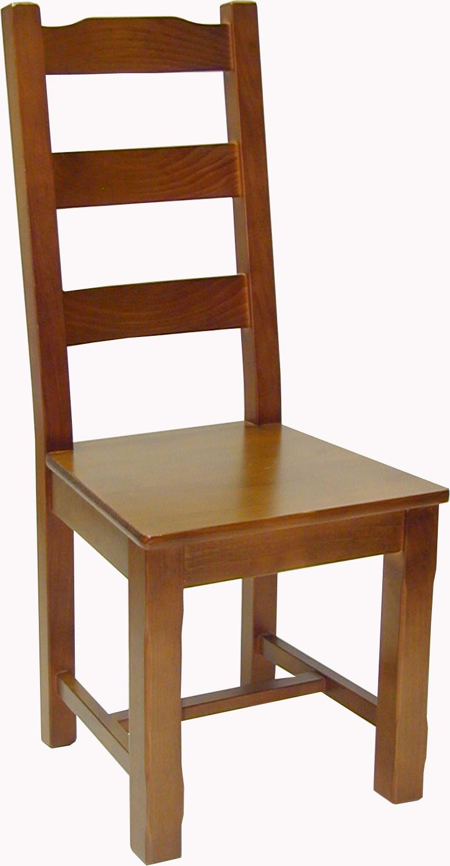Silla madera de pino 4 patas for Sillas de madera para salon