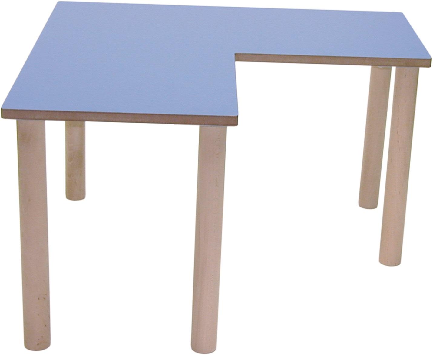Mesa l guay mobiliario infantil escolar guarderias madera - Mesas infantiles madera ...