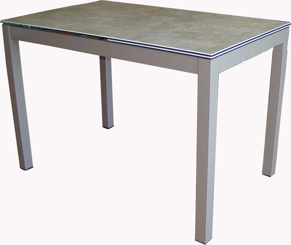 Mesa de cocina extensible celeste 4 patas for Mesas de cocina extensibles
