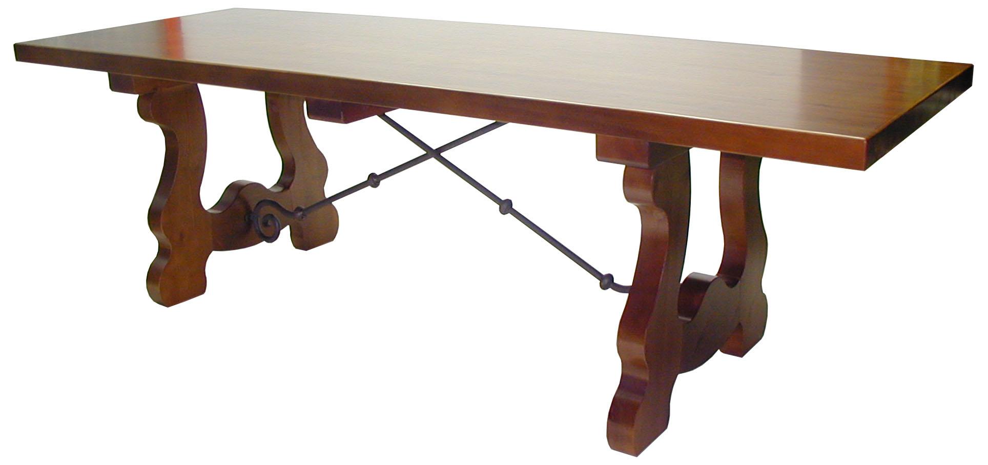 Mesa de madera de pino 4 patas for Mesas y sillas para bodegas