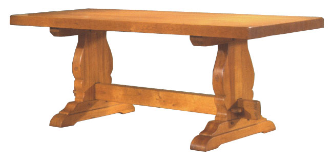 Mesa de madera de roble 4 patas for Mesa bar de madera