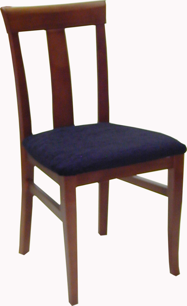 Silla de madera de haya for Sillas de comedor de madera tapizadas