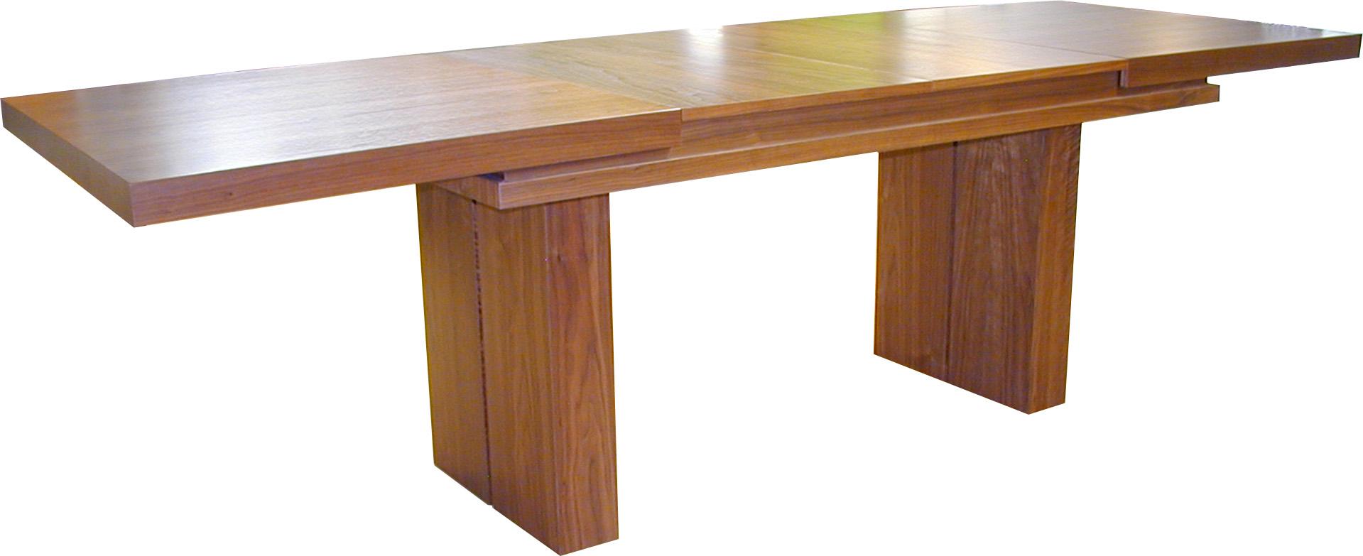 Mesa colum columnas chapeada extensible salon lacada guias - Mesa salon extensible ...