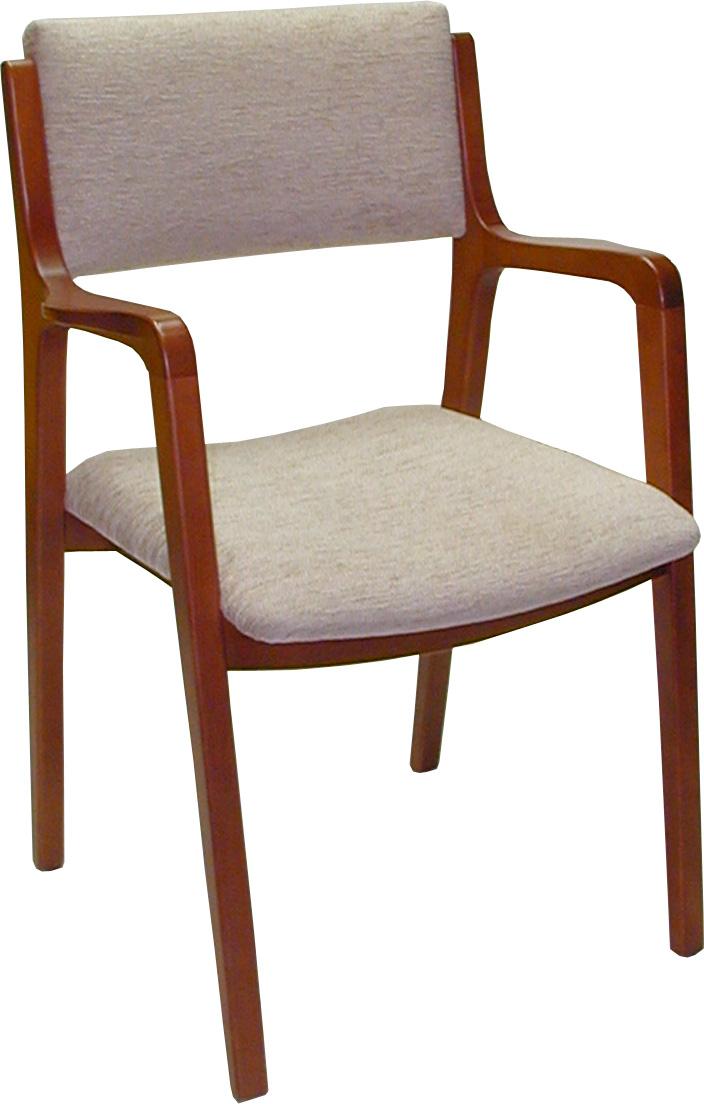 Sill n tapizado de madera for Sillas comedor con reposabrazos