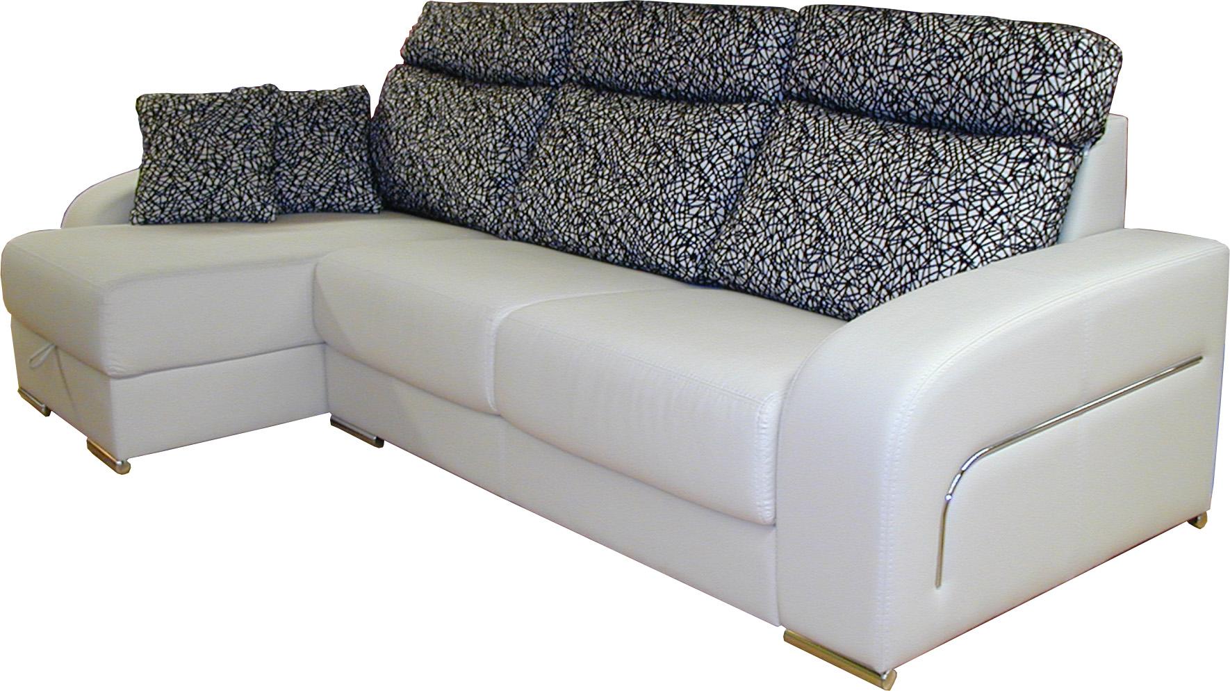 Sofa chaise longue arcon asiento deslizante dolce 4 patas - Sofa 4 plazas chaise longue ...